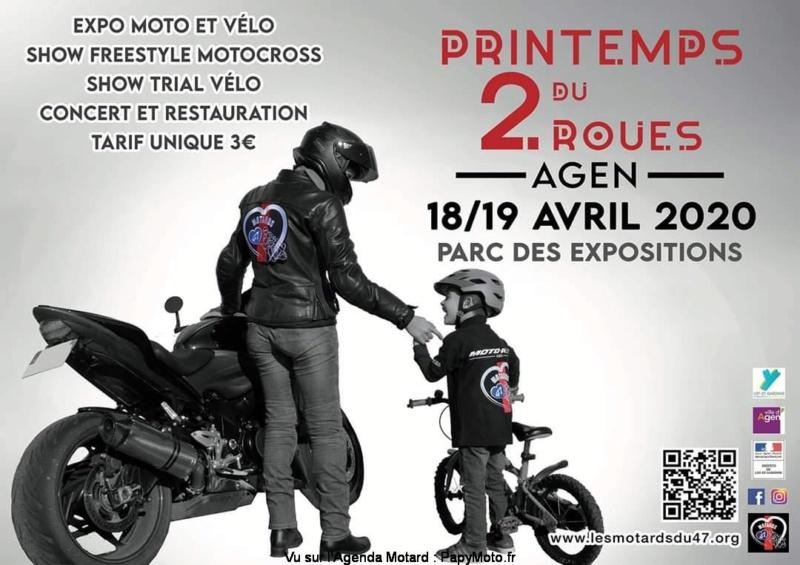 MANIFESTATION - Printemps du 2 Roues - 18 & 19 Avril 2020 - Agen Parc des Expositions  Printe10