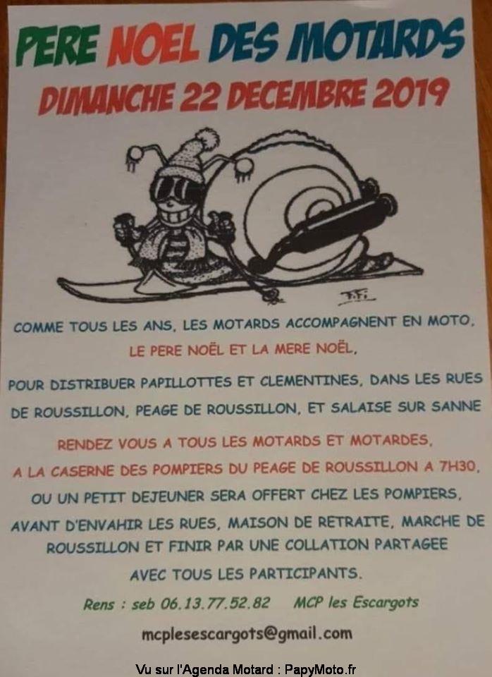 MANIFESTATION - Pére Noel des Motards - Dimanche 22 Décembre 2019 - Roussillon  Pzore-11
