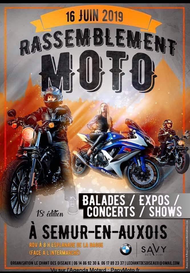 MANIFESTATION - Rassemblement Moto - Dimanche 16 Juin 2019 -Semur-en Auxois Rassem32