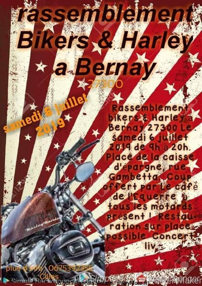 MANIFESTATION - Rassemblement Bikers & Harley - Samedi 6 Juillet 2019 - Bernay (27300) Rassem34