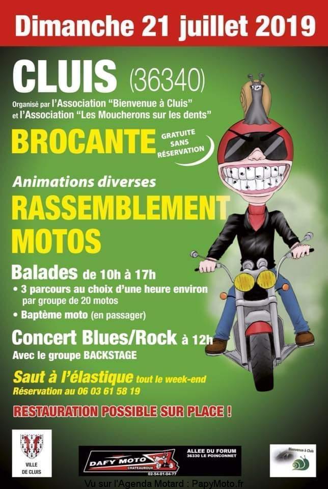 MANIFESTATION - Brocante & Rassemblement Motos - 21 Juillet 2019 - CLUIS(36340) Rassem35