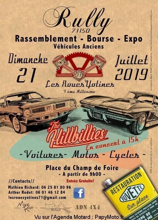 MANIFESTATION - Rassemblement -Bourse - Expo - 21 Juillet 2019 - Rully (71150) Rassem36