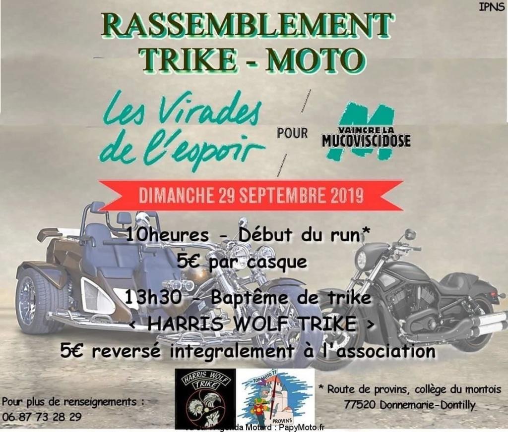MANIFESTATION - Rassemblement Trike - Moto 29 Septembre 2019 - Donnemarie-Dontilly (77520) Rassem46