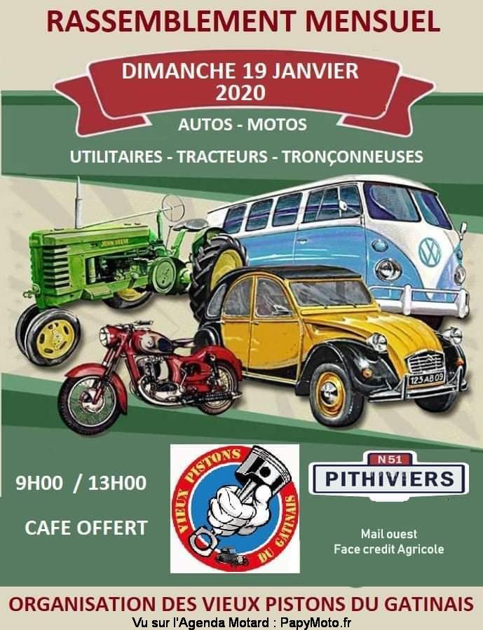 MANIFESTATION - Rassemblement Mensuel - Dimanche 19 Janvier 2020 - Pithiviers  Rassem55