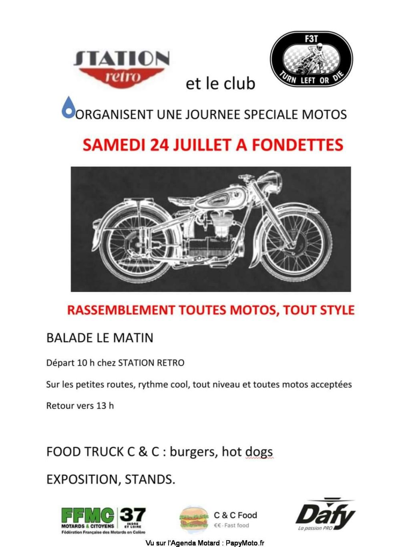 MANIFESTATION - Rassemblement Toutes Motos - Samedi 24 Juillet 2021 - Fondettes (37) Rassem56