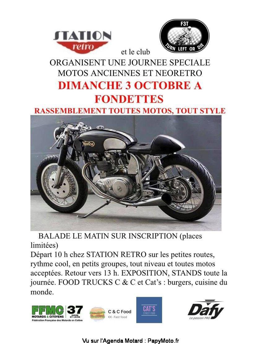 MANIFESTATION - Rassemblement Toutes Motos - Dimanche 3 Octobre 2021 - Fondettes  Rassem59