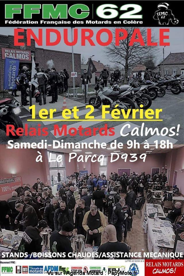 MANIFESTATION - Relais Motards Calmos (Enduropale)1er & 2 Février 2020 - Le Parcq  Relais10