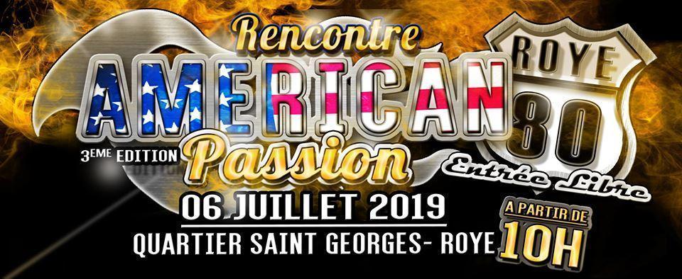 MANIFESTATION - Américan Passion - 6 Juillet 2019 - ROYE (80) Rencon10