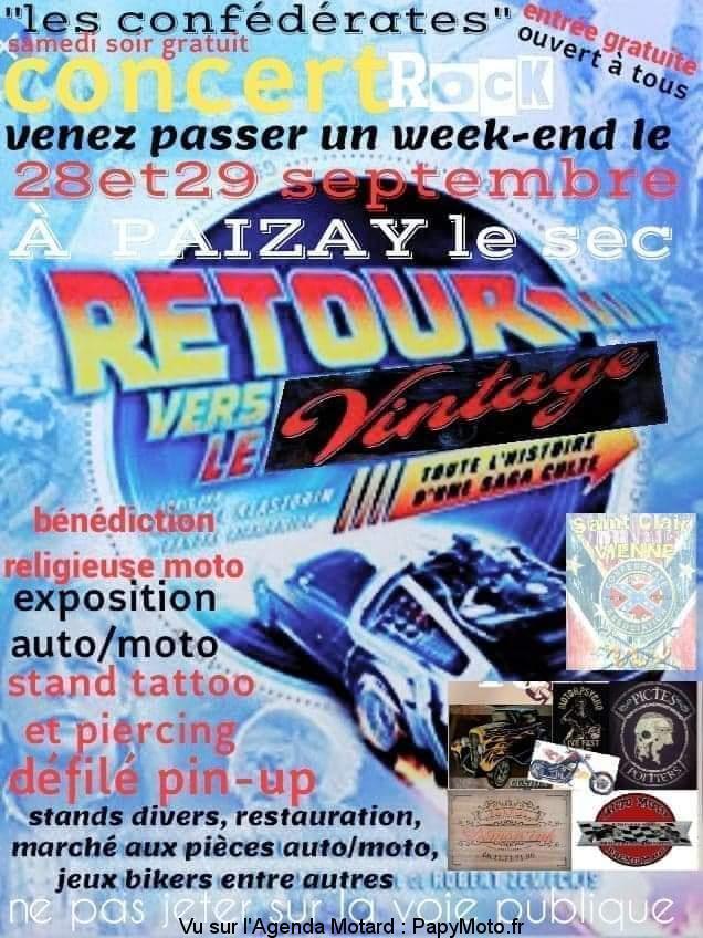 MANIFESTATION - Retour vers le vintage - 28 & 29 septembre 2019 -Paizay Le Sec Retour10
