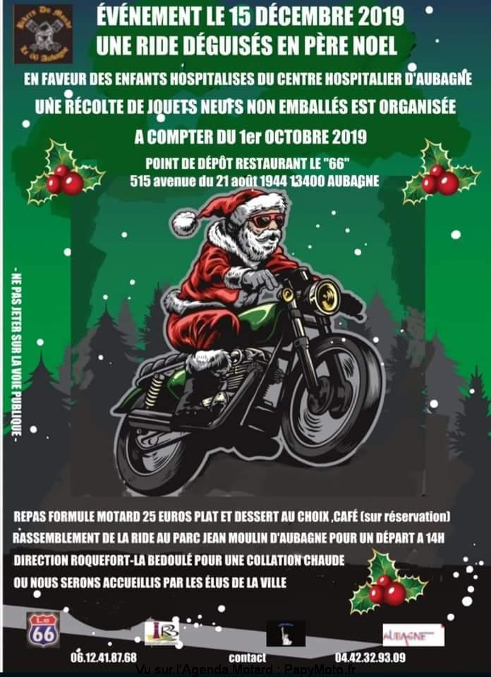 MANIFESTATION - Ride Père Noel  - 15 Décembre 2019 - Aubagne (13400) Ride-d13