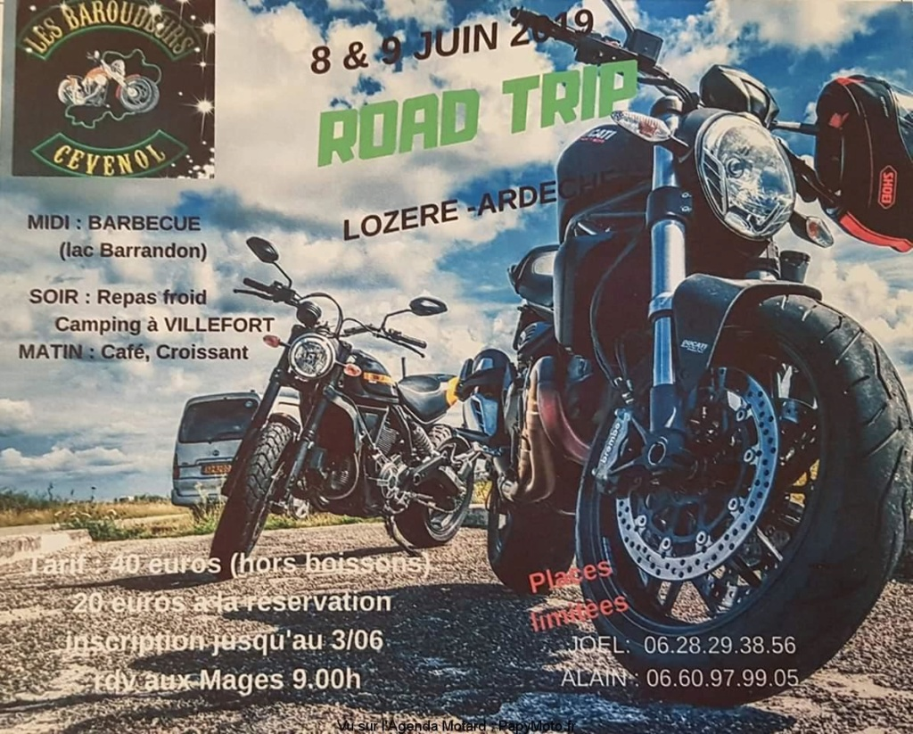MANIFESTATION - Road Trip - 8 & 9 Juin 2019 - Les Mages (30) Road-t10