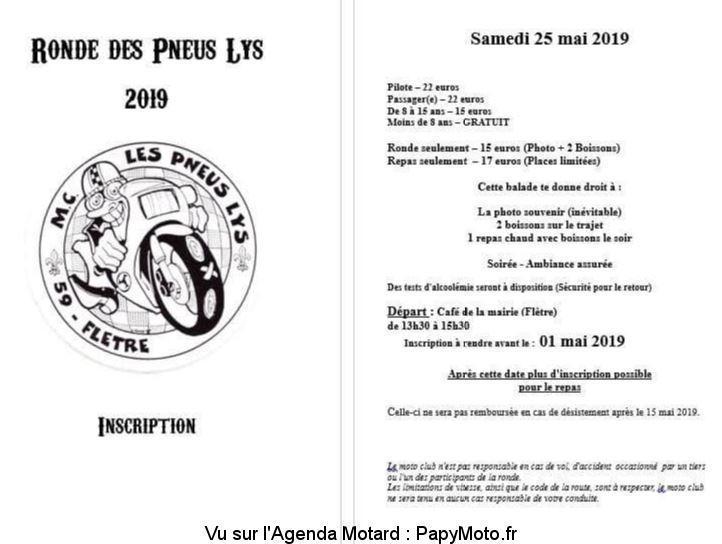 MANIFESTATION - Ronde des Pneus - Samedi 25 Mai 2019 - Flètre (59)  Ronde-10