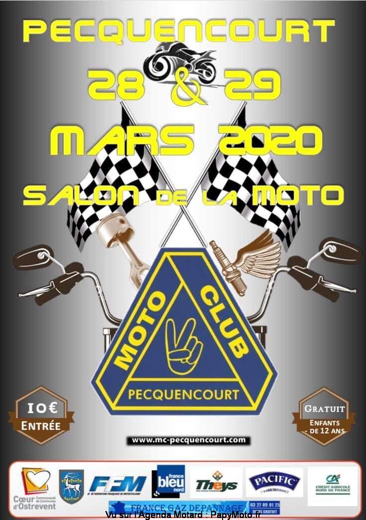 MANIFESTATION  -  Salon de la Moto - 28 & 29 Mars 2020 - Pecquencourt Salon-28