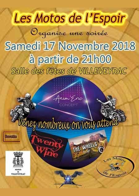 Les Motos de L'espoir - Samedi 17 novembre 2018 - Villeveyrac Soirzo11