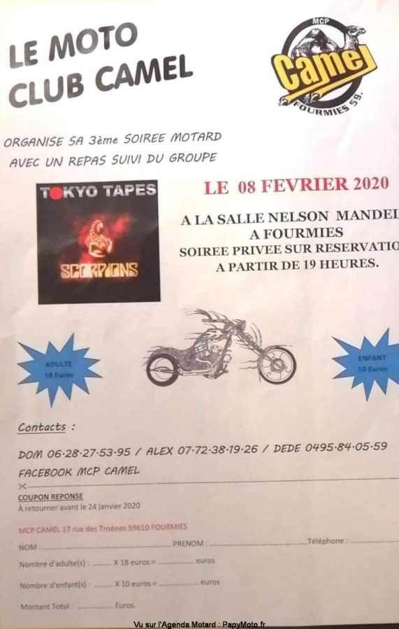 MANIFESTATION - Soirée Motard - 8 Février 2020 - Fourmies (59) Soirzo19