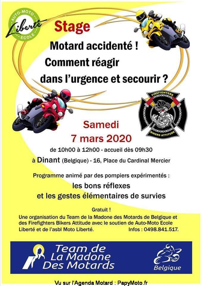 MANIFESTATION - Stage Motard Accidenté - 7 Mars 2020 - Dinant (Belgique) Stage-11