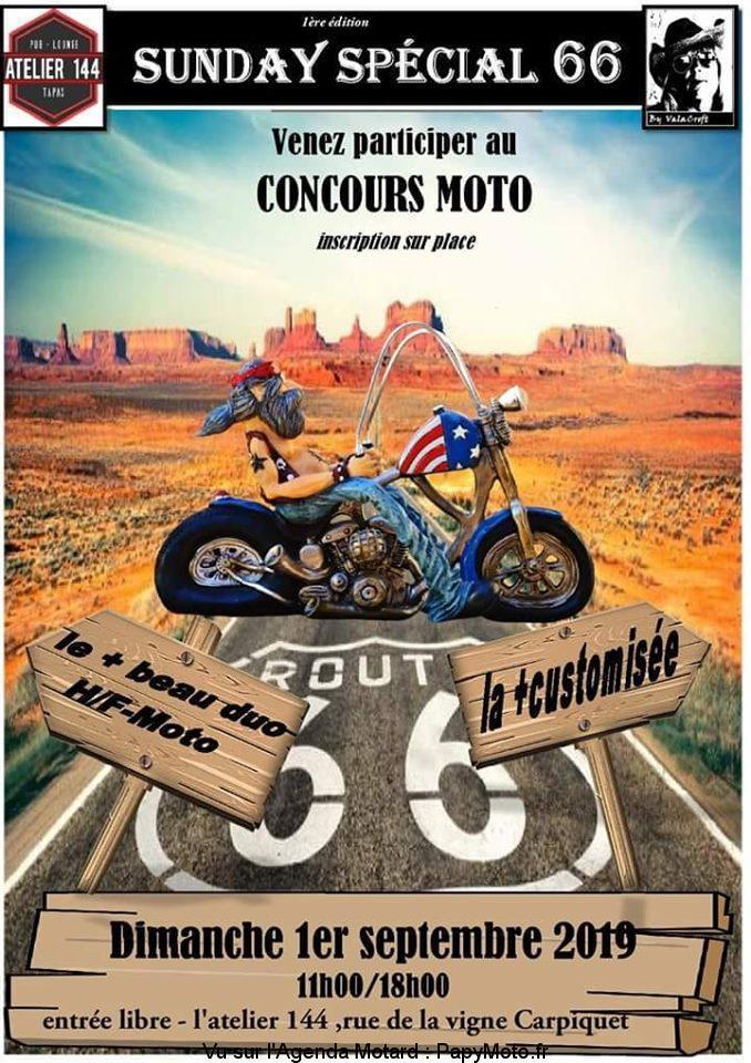 MANIFESTATION - Sunday Sécial 66 - Dimanche 1er Septembre 2019 -L'atelier 144 - Carpiquet  Sunday12