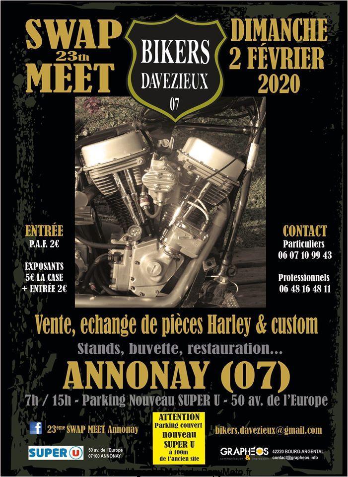 MANIFESTATION - SWAP MEET - 2 Février 2020 - Annonay (07) France  Swap-m10