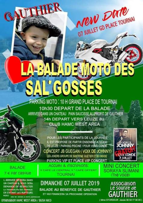 MANIFESTATION - Balade Moto des SAL'GOSSES - 7 Juillet 2019 - Tournai (Belgique ) Tourna14