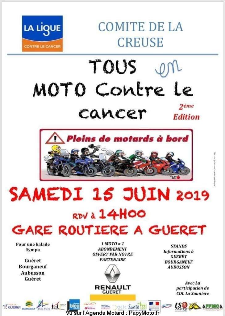 MANIFESTATION - Tous en Moto contre le cancer - Samedi 15 Juin 2019 - Guéret (23000) Tous-e10