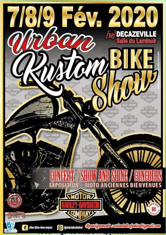 MANIFESTATION - Kustom Bike Show - 7 / 8 / 9 Février 2020 - Decazeville (12) Urban-10