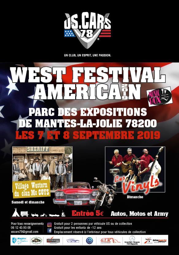 MANIFESTATION - West Festival Américan -  7 & 8 Septembre 2019 - Mantes -La -Jolie (78200) Us-car13