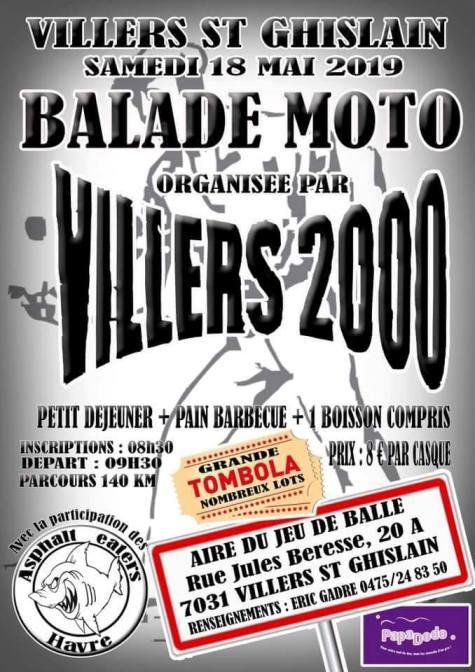 Balade Moto - Samedi 18 Mai 2019 - Villers St Ghislain - (7031) Viller10
