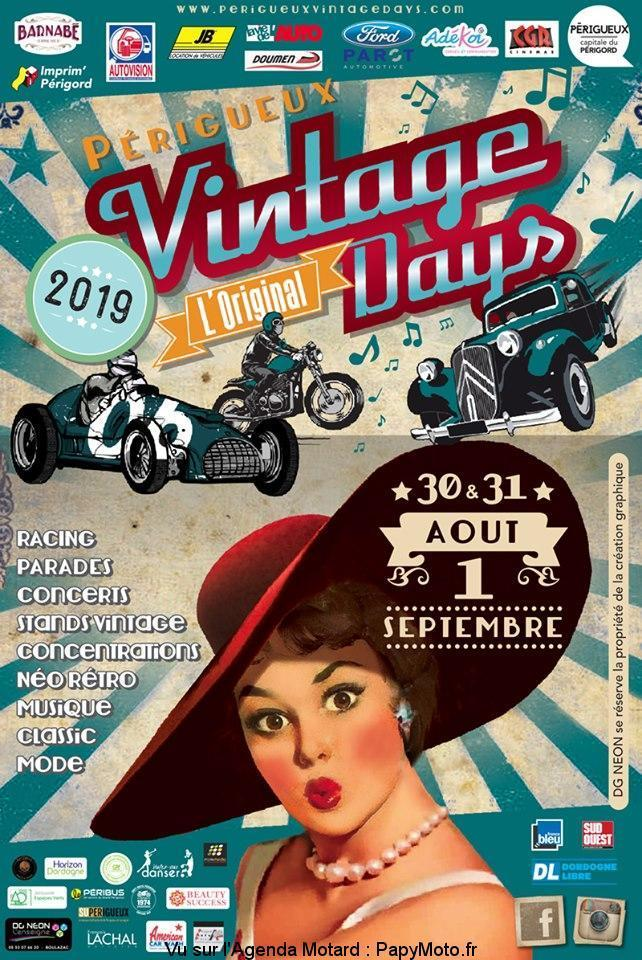 MANIFESTATION - Vintage Days - 30 - 31 - AOUT & 1er Septembre 2019 - Périgueux Vintag17