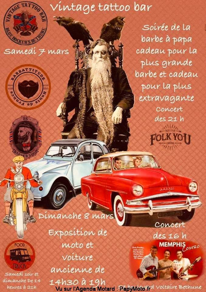 MANIFESTATION  - vintage Tattoo Bar Expo - 7 & 8 Mars 2020 - Béthune  Vintag19