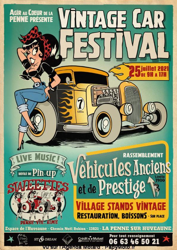 MANIFESTATION - Vintage Car Festival -25 Juillet 2021 - La Penne sur Huveaune ( 13821) Vintag21