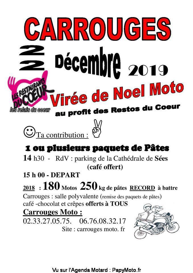 MANIFESTATION - Virée de Noel Moto - 22 Décembre 2019 - Carrouges Virzoe10