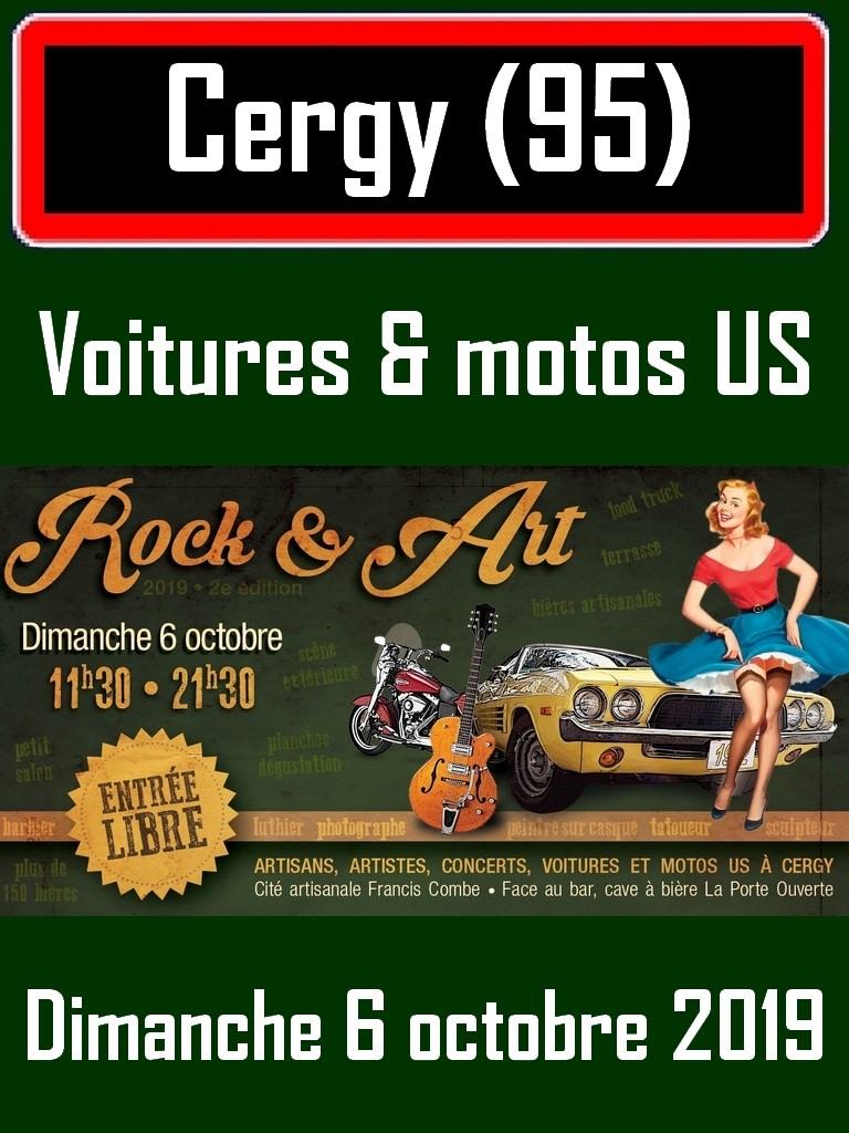 MANIFESTATION - Voitures & Motos US - Dimanche 6 Octobre 2019 - Cergy (95) Voitur10
