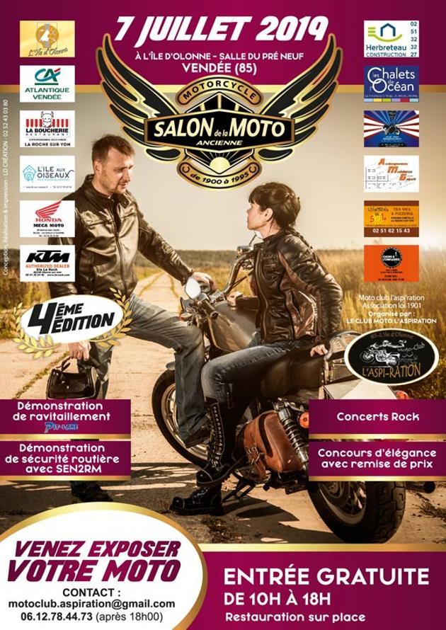MANIFESTATION - Salon de la Moto Ancienne -  7 Juillet 2019 - Vendée (85) Ile D'Olonne Web10