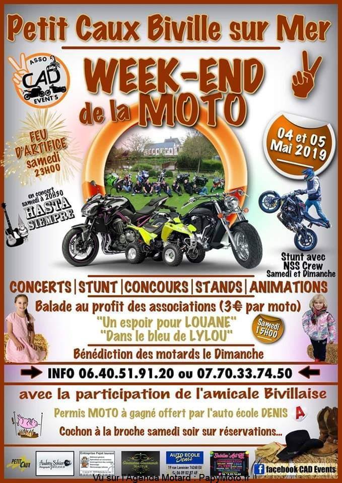 MANIFESTATION - Week-end Moto - 4 & 5 Mai 2019 - Petit Caux -  Biville sur Mer  Week-e16