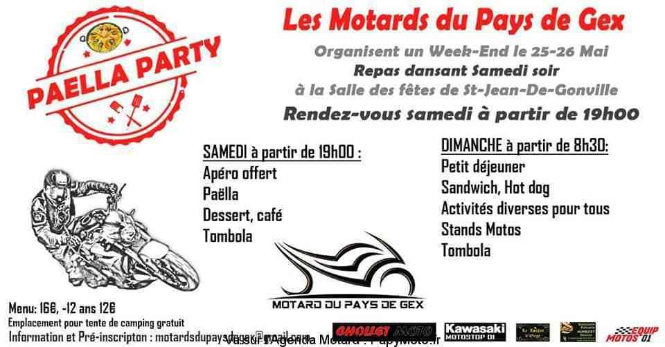 MANIFESTATION - Paella Party - 25 & 26 Mai 2019 - Saint -Jean -de -Gonville (01) Week-e17