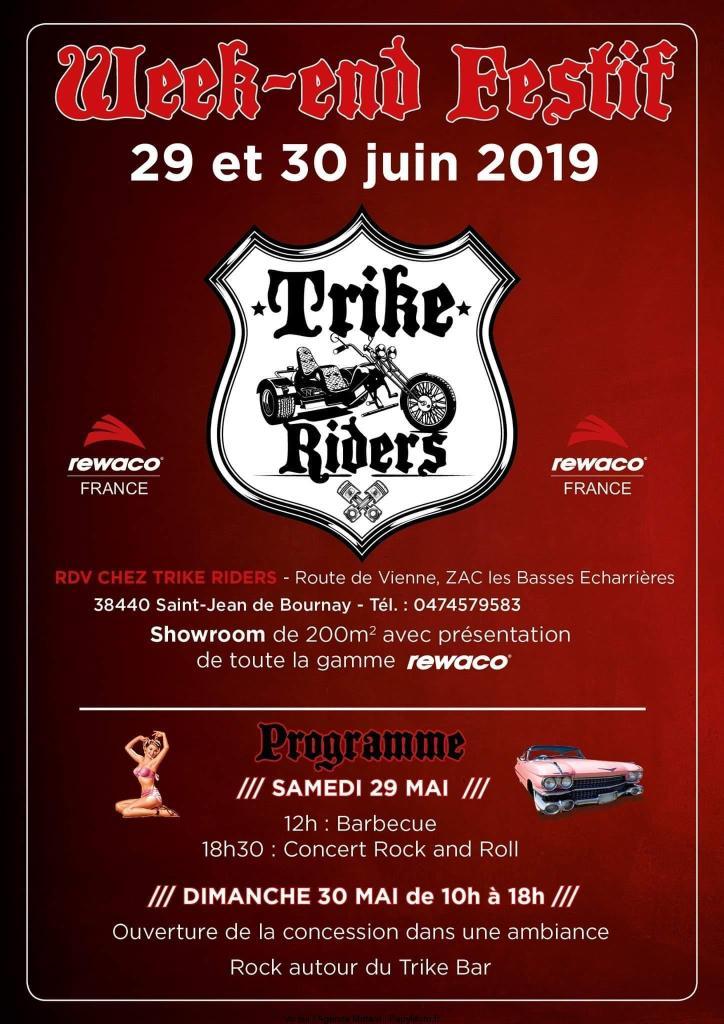 MANIFESTATION - Trike Riders - 29 & 30 Juin 2019 - Saint -Jean De Bournay (38440) Week-e18