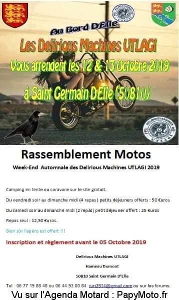 MANIFESTATION - Rassemblement Motos - 12 & 13 Octobre 2019 Saint D'Elle(50810) Week-e19