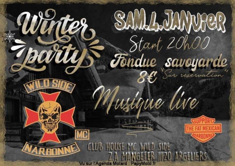 MANIFESTATION - Winter Party - Samedi 4 Janvier 2020 - Argeliers ( 11120)  Winter11