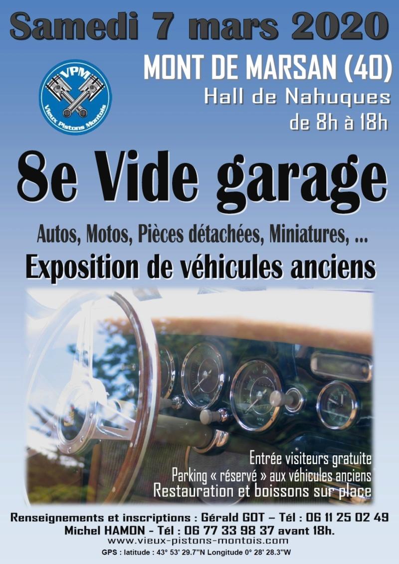 MANIFESTATION -  8ème Vide Garage - Samedi 7 Mars 2020 - Mont de Marsan (40) Ys_lrz10