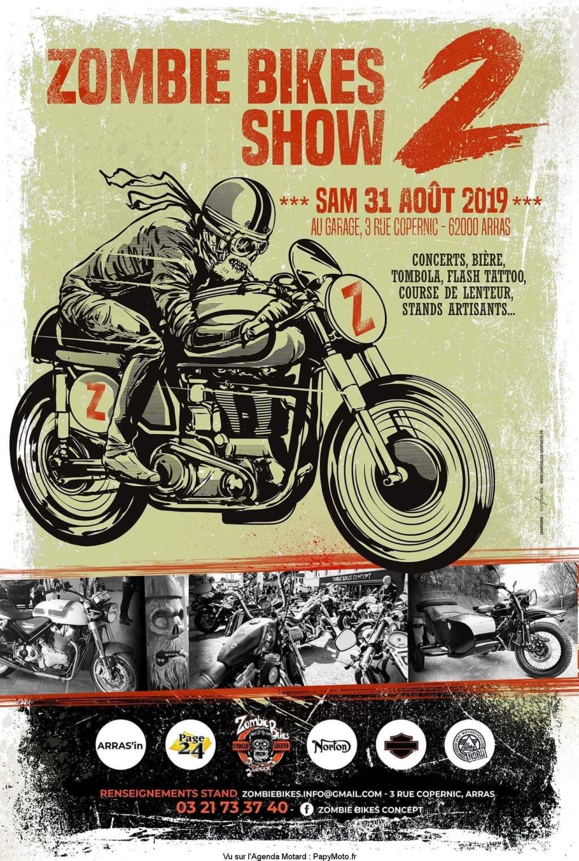 MANIFESTATION - Zombie Bikes Show - Samedi 31 AOUT 2019 - Arras (62000) Zombie11