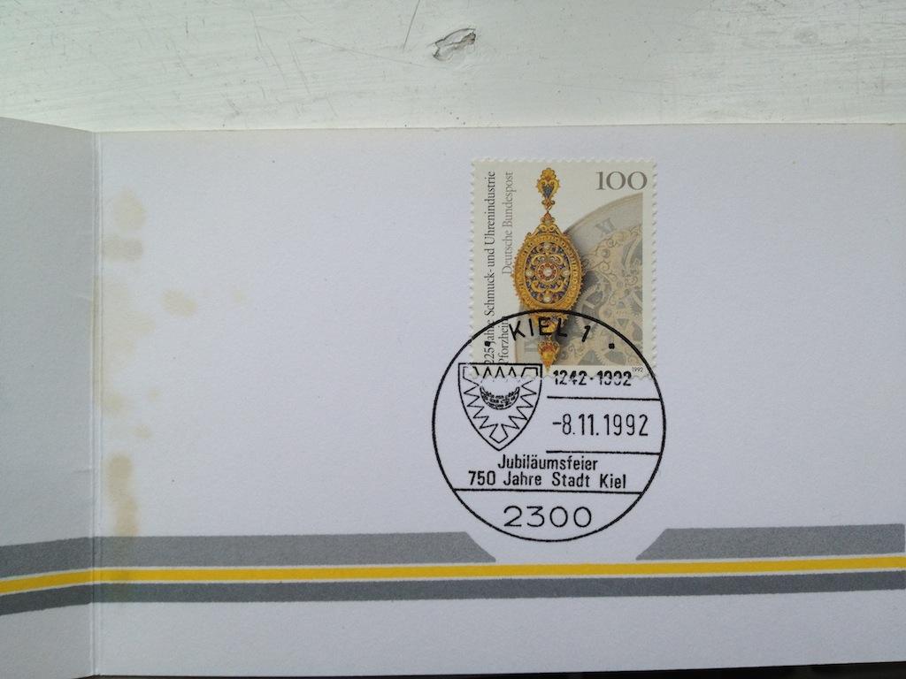 Briefmarken und Telefonkarten Telekom Direktion Kiel, kleine Auflage (?) 210