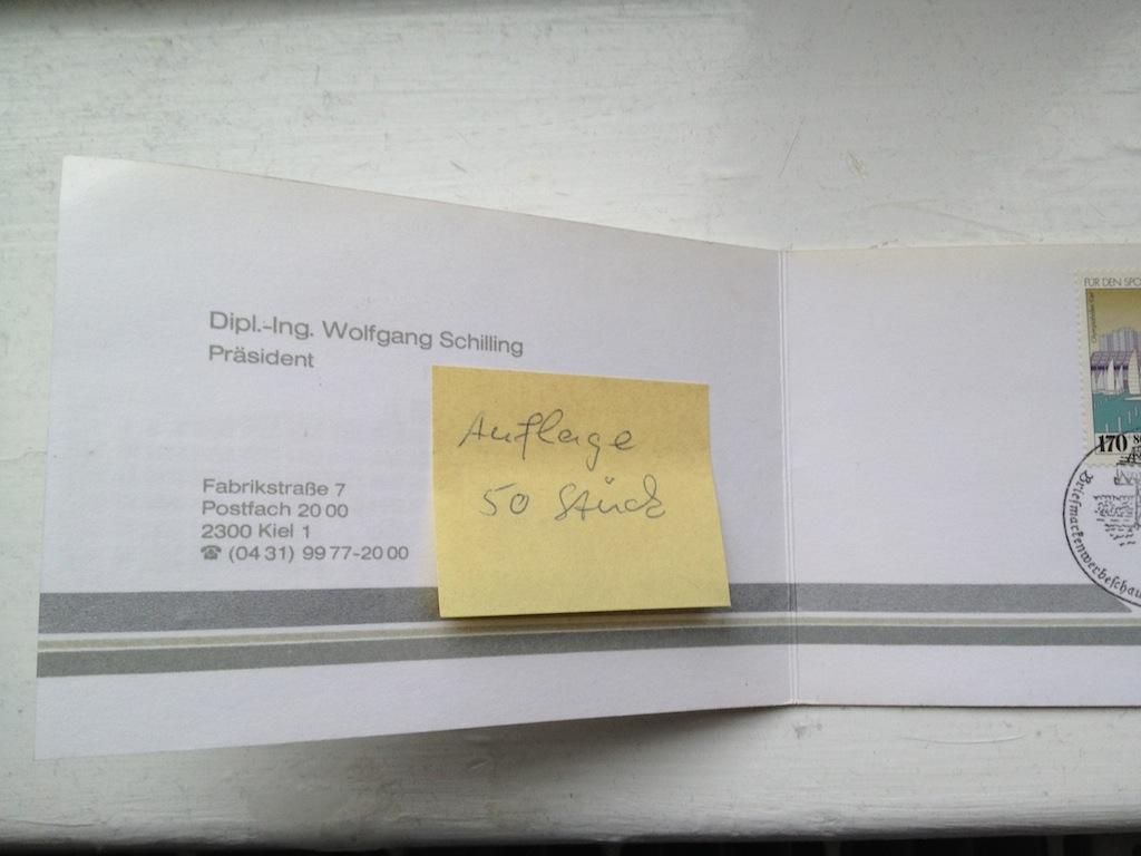 Briefmarken und Telefonkarten Telekom Direktion Kiel, kleine Auflage (?) 310
