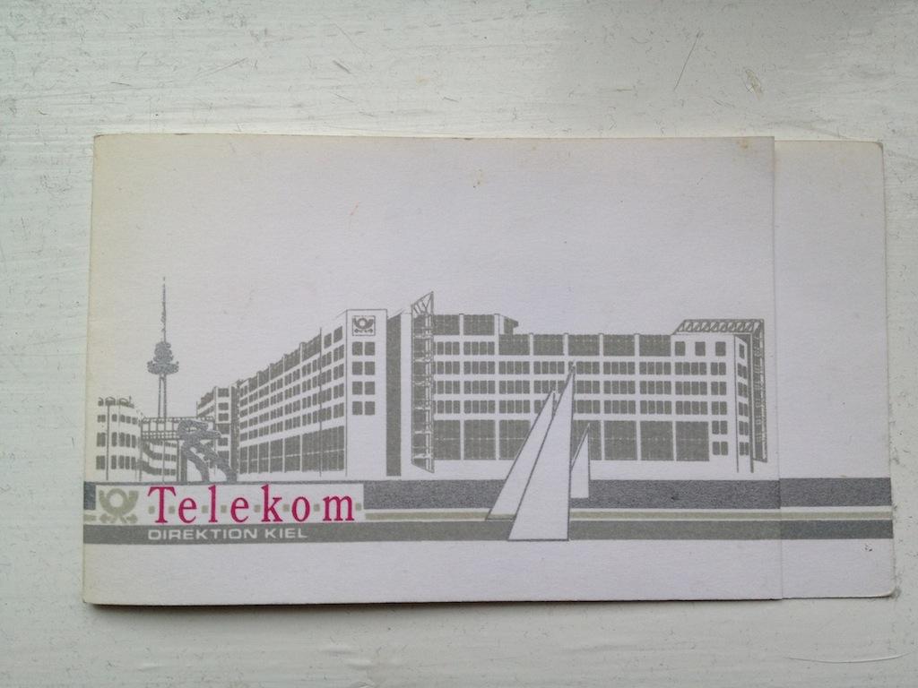 Briefmarken und Telefonkarten Telekom Direktion Kiel, kleine Auflage (?) 410