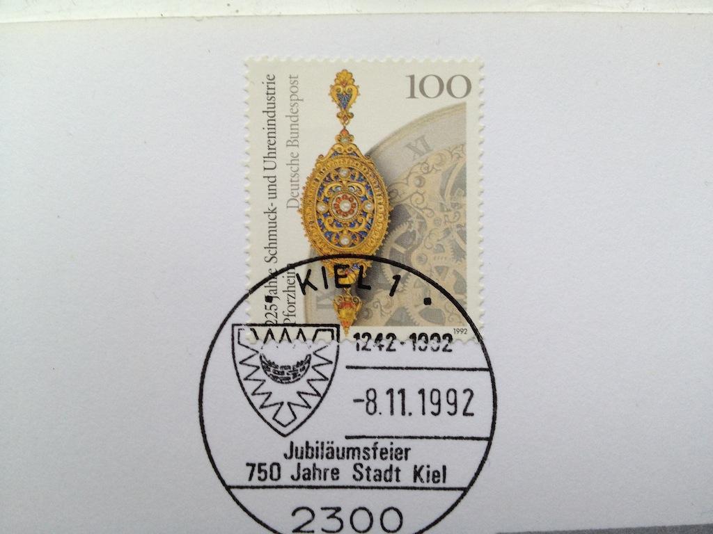 Briefmarken und Telefonkarten Telekom Direktion Kiel, kleine Auflage (?) 610