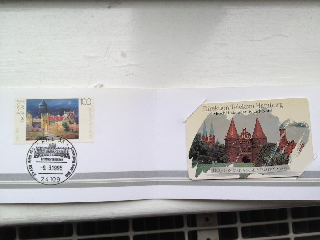 Briefmarken und Telefonkarten Telekom Direktion Kiel, kleine Auflage (?) 810
