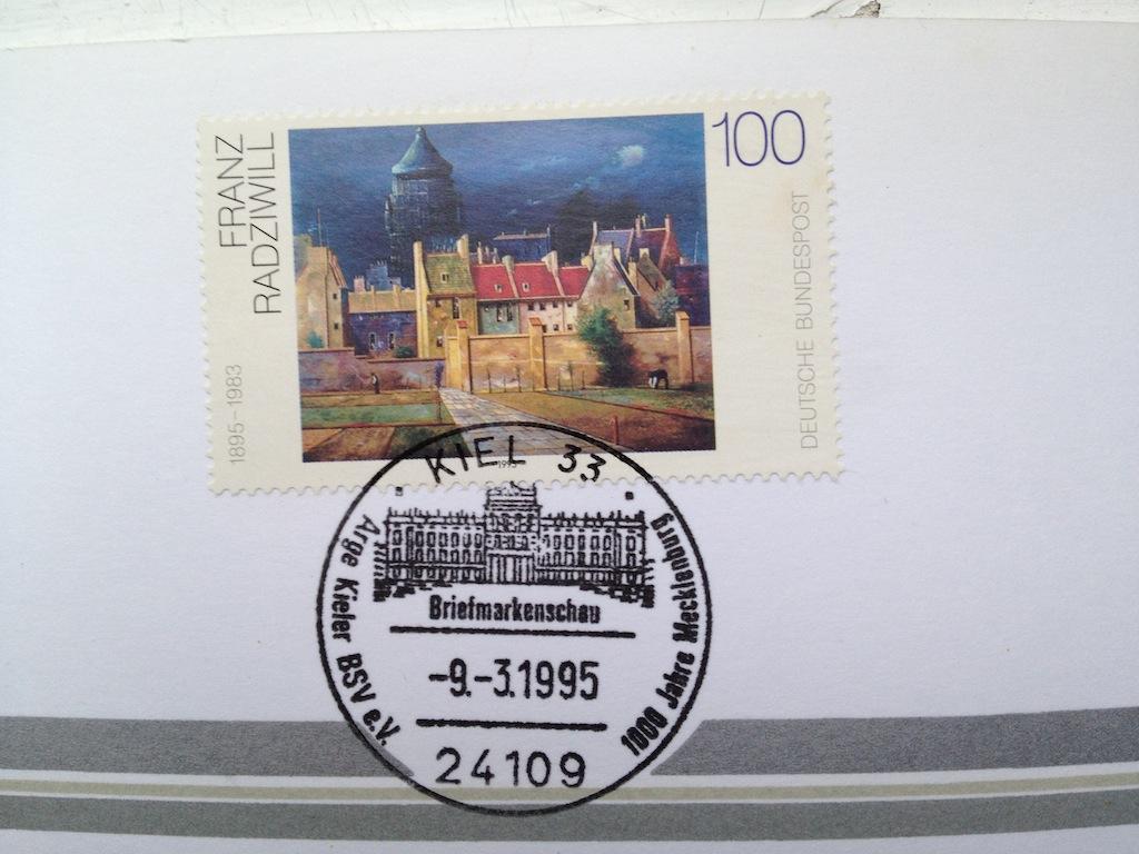 Briefmarken und Telefonkarten Telekom Direktion Kiel, kleine Auflage (?) 910