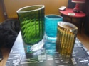 set of 3 heavy ribbed oval vases P1080010