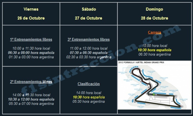 PEVIO DEL GP DE INDIA F1 2012 Horari11