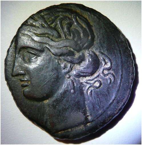 Zeugitane, statère de billon ou 1,5 shekel, Carthage, IVe-IIIe s. av. J.-C. 212