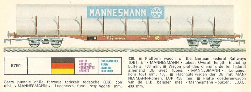 Le Wagon Plat avec chargement de Tubes MANNESMANN au 1:45 de Lima 6791_c11